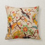 Birds & Butterflies Throw Pillow