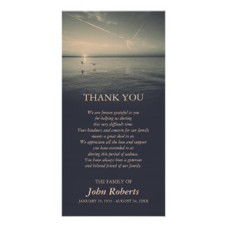 Birds by Ocean Sunrise Memorial Service Thank You Card
