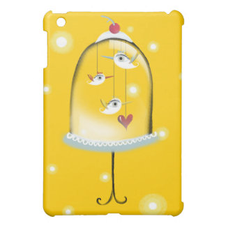 Birds Cage Customizable Background Color iPad Mini Cover