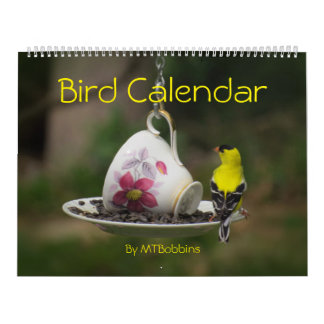 Birds Calendar with Large Numbers