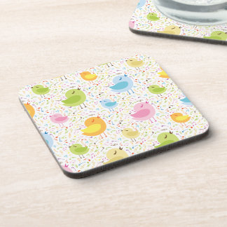 Birds Chirping with Musical Pattern Coaster