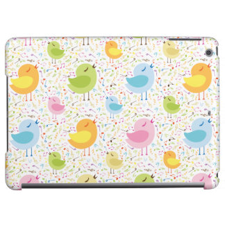 Birds Chirping with Musical Pattern iPad Air Case