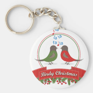 birds christmas keychain