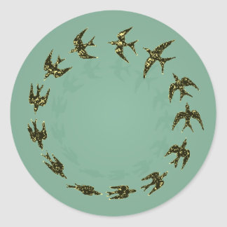 Birds Classic Round Sticker