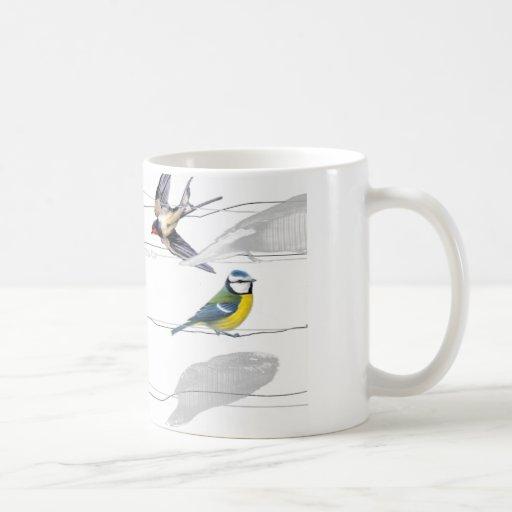 birds classic white coffee mug