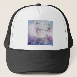 Birds Decoupage Trucker Hat