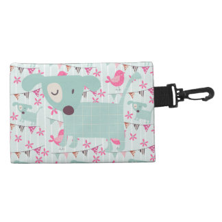 Birds, Dogs, Banners, Flowers Accessory Bag
