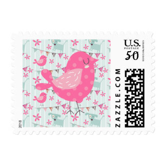 Birds, Dogs, Banners, Flowers Postage
