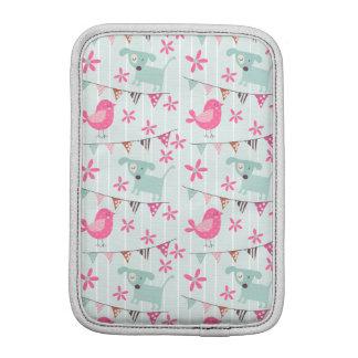 Birds, Dogs, Banners, Flowers Sleeve For iPad Mini