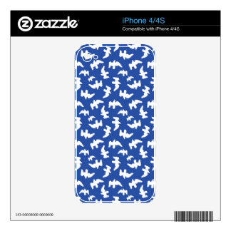 Birds Drawing Pattern Design Decals For iPhone 4