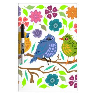 Birds Dry-Erase Board
