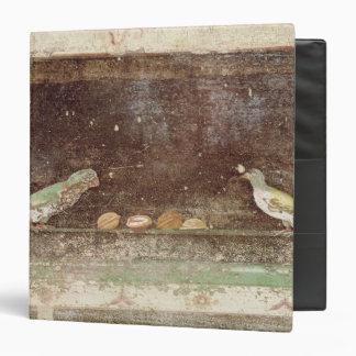 Birds eating nuts 3 ring binder