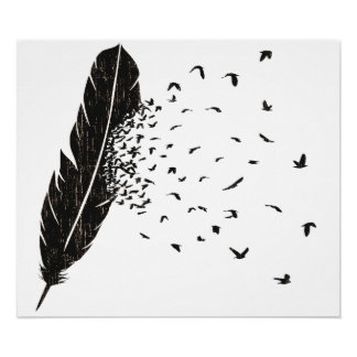 Birds Erupting of a Feather Poster