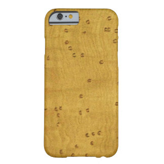 Birds Eye Maple Wood Image Custom Barely There iPhone 6 Case