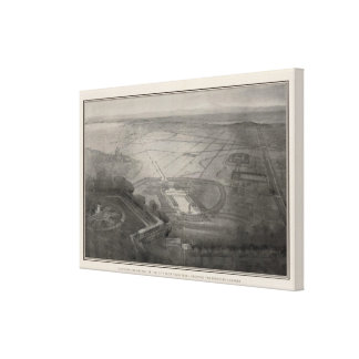 Bird's eye perspective from Twin Peaks Canvas Print