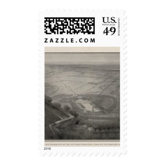 Bird's eye perspective from Twin Peaks Stamp
