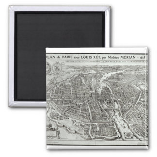 Bird's Eye Plan of Paris, 1615 Fridge Magnets