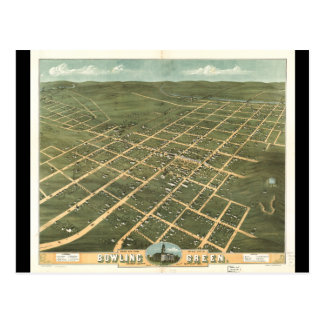 Bird's Eye View Bowling Green Kentucky (1871) Postcard