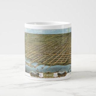 Bird's Eye View City of Erie Pennsylvania 1870 Giant Coffee Mug