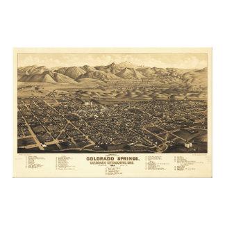 Bird's Eye View Colorado Springs, Colorado (1882) Canvas Print