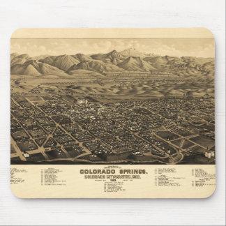 Bird's Eye View Colorado Springs, Colorado (1882) Mouse Pad