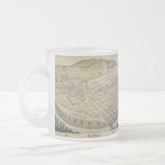 Bird's Eye View El Paso El Paso County Texas 1886 Frosted Glass Coffee Mug