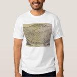 Bird's Eye View El Paso El Paso County Texas 1886 Tee Shirt