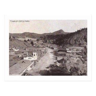 Bird's-Eye View, Elkhorn Ave., Estes Park Vintage Postcard