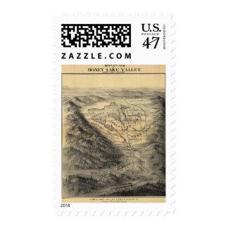 Bird's eye view, Honey Lake Valley Stamp