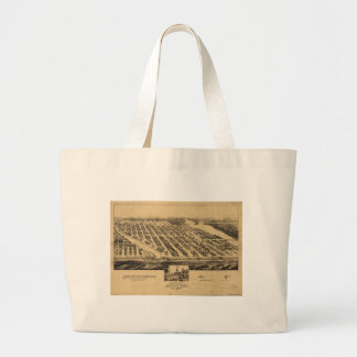 Bird's eye view Map Asbury Park New Jersey (1881) Large Tote Bag