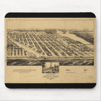 Bird's eye view Map Asbury Park New Jersey (1881) Mouse Pad
