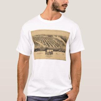 Bird's eye view Map Asbury Park New Jersey (1881) T-Shirt