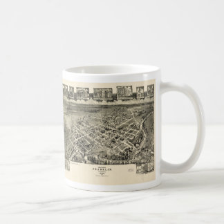 Birds eye view Map Franklin Virginia (1907) Coffee Mug