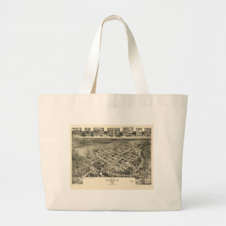 Birds eye view Map Franklin Virginia (1907) Large Tote Bag