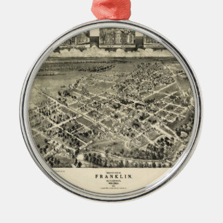 Birds eye view Map Franklin Virginia (1907) Metal Ornament