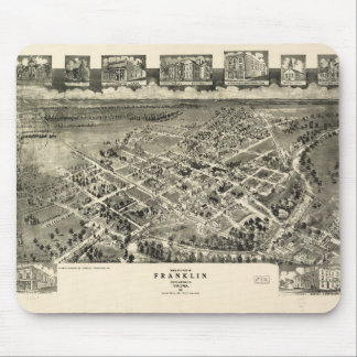 Birds eye view Map Franklin Virginia (1907) Mouse Pad