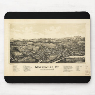 Bird's Eye View Map Morrisville Vermont (1889) Mouse Pad