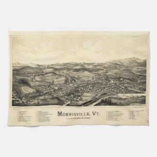 Bird's Eye View Map Morrisville Vermont (1889) Towel