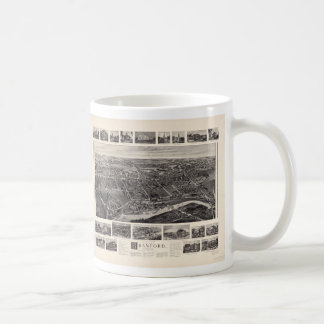 Bird's-eye view Map of Branford Connecticut (1905) Coffee Mug