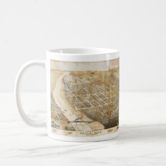 Bird's Eye View Map of Eagle Pass Texas in 1887 Coffee Mug