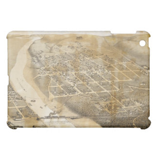 Bird's Eye View Map of Eagle Pass Texas in 1887 iPad Mini Covers