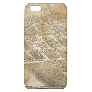 Bird's Eye View Map of Eagle Pass Texas in 1887 iPhone 5C Case
