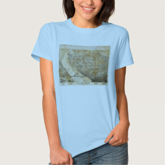 Bird's Eye View Map of Eagle Pass Texas in 1887 T-shirt