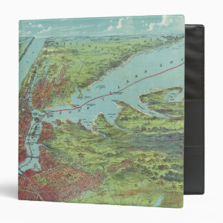 Birds Eye View Map Of New York And Vicinity 3 Ring Binder
