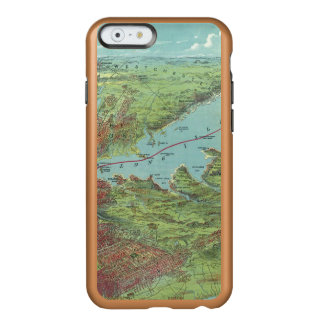 Birds Eye View Map Of New York And Vicinity Incipio Feather® Shine iPhone 6 Case