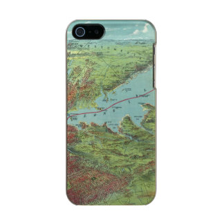 Birds Eye View Map Of New York And Vicinity Incipio Feather® Shine iPhone 5 Case