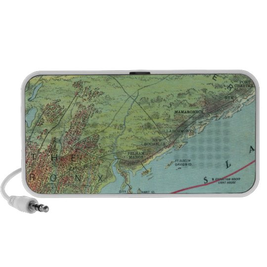Birds Eye View Map Of New York And Vicinity Portable Speaker
