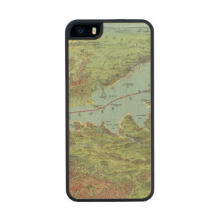 Birds Eye View Map Of New York And Vicinity Carved® Maple iPhone 5 Case