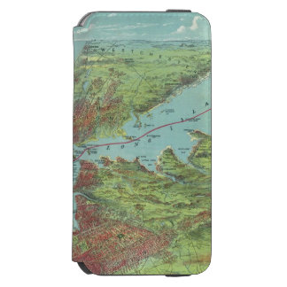 Birds Eye View Map Of New York And Vicinity Incipio Watson™ iPhone 6 Wallet Case