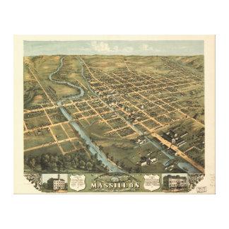 Bird's eye view Massillon Stark County Ohio (1870) Canvas Print